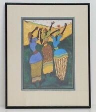 Paul Nzalamba 'And the Sun Came Lithograph Signed Framed 16x20