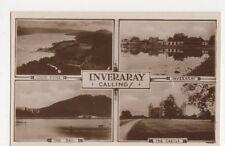 Scotland, Inveraray Calling! RP Postcard, B109