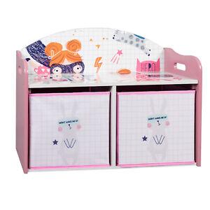 Kinderregal Aufbewahrungsboxen Spieltisch Spielzeugkiste Kinderzimmer 0001ETSJ