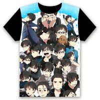 Anime YURI!!! on ICE Casual Cosplay Black Unisex Short Sleeve T-Shirt Tops #R-15