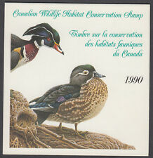 Canada - #FWH6 1990 Wildlife Conservation Stamp Booklet - Wood Ducks