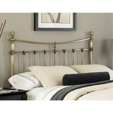 "Queen Metal Antique Bed Headboard Brass 54"" Bedroom Vintage Furniture Beds Home"