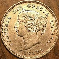 1901 CANADA SILVER 5 CENTS COIN - Fantastic example!