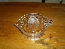 Vintage Deco Style Depression Glass Citrus Juicer Orange juice Squeezer, Clear!
