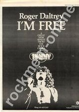 Roger Daltrey I'm Free The Who ODS 66302 MM3 '45 advert 1973