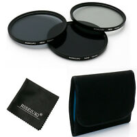 RISE(UK)72MM ND Neutral Density Filter Set ND2 ND4 ND8 for Canon Sony Lens