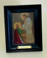 Kleines Heiligenbild-Andenken an 1. heilige Kommunion - Ölmalerei - Handarbeit
