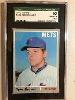 1970 topps Tom Seaver SGC 92, PSA worthy. Mets 300 game winner