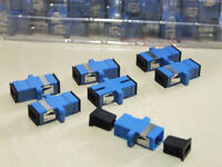 200pcs Fiber Optic Connector Adapter SC UPC SM Flange Simplex SC-SC Coupler
