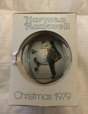 Norman Rockwell Ornament Snow Sculpture Christmas 1979 Schmid In Box