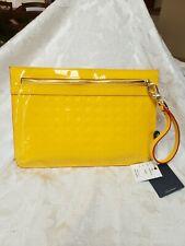 ARCADIA Canary Patent SV Leather Ladies Wristlet/Clutch Handbag 1596 ITALY NWT