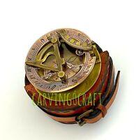 Brass Sundial Compass - Pocket Sundial -Brass polished West London
