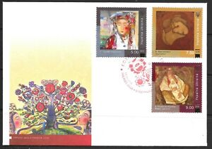 """2018 Ukraine first day cover of paintings """"Love is Life"""" dated 14 August 2018"""