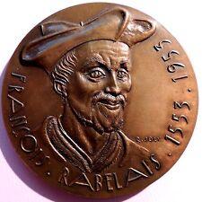 French Renaissance writer, physician, Renaissance humanist, Bronze Medal / N125