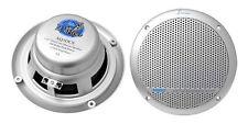 Lanzar AQ5DCS Silver Pair 300 Watts 5.25'' Marine Boat Waterproof Speakers