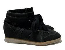ISABEL MARANT 'BETTY' BLACK WEDGE SNEAKERS, 38, $665
