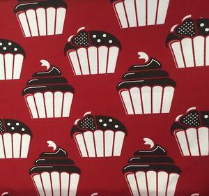 25 cm Jerseystoff Muffin Cupcake Kuchen Auf Rot Shalmiak By Sari Ahokainen