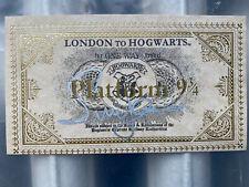 HARRY POTTER EMMA WATSON SIGNED LONDON TO HOGWART'S TRAIN TICKET, RARE ORIGINAL