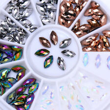 Chameleon AB Color Marquise 3D Nail Art Rhinestones Flat Bottom Studs Decoration
