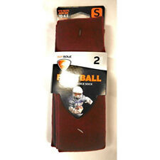 SofSole Maroon Youth Football Socks - 2 Pairs Size 10-4.5