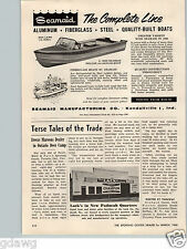 1960 PAPER AD Seamaid Deluxe Aluminum Fishing Outboard Motor Boat