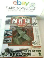 """DIE CAST """" MITSUBISHI A6M2B """" WW2 AIRCRAFT COLLECTION FIGHTER 1/72 (11)"""