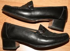 Batistella Heels 7 Black Leather Womens Dress Shoes Seven 1.5-Inch High Heel