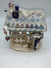 Blue Sky Clayworks White Rabbit Toys Christmas Tealight Candle House No Box