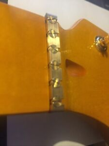 Brass Height Adjustable 43mm NUT for Strat Tele Guitar, Bottom Radius 9.5''