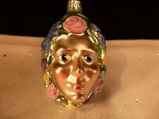 PATRICIA BREEN CHRISTMAS ORNAMENT BREATH OF SPRING WOMAN'S FACE & FLOWERS