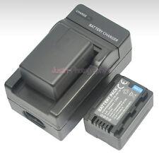 AC Charger +2x Battery for Panasonic VW-VBT190 VW-BC10 HC-VX870 HC-V550 HC-V750