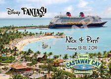 8X10 CUSTOM Disney Cruise Door Magnet - CASTAWAY CAY DISNEY FANTASY