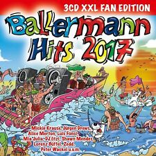 BALLERMANN HITS 2017(XXL FAN EDITION) Mickie Krause,Jürgen Drews3 CD NEU