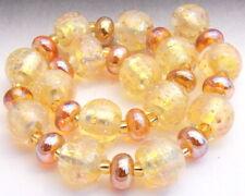 """Sistersbeads """"B-White Gold"""" Handmade Lampwork Beads"""