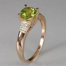 _LDN_Bague Peridot /Diamants verit._Argent 925 + Pl Or 14ct_53_