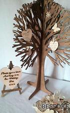 Wishing Tree & 50 Wooden Hearts Alternative Wedding Guest Book Christening Birth