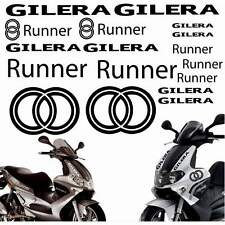 SET ADESIVI CARENA CARENE NERO GILERA RUNNER STICKERS LOGO GRAFICA