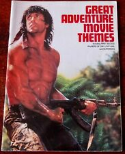 GREAT ADVENTURE MOVIE THEMES OST PIANO SOLO SHEET MUSIC BOOK (1985) ENGLAND