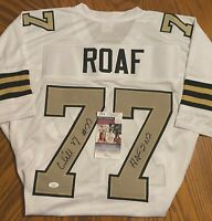 Willie Roaf New Orleans Saints Autographed Custom White Jersey, Size XL, JSA COA