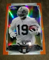 2014 MIKE DAVIS TOPPS CHROME ORANGE REFRACTOR ROOKIE CARD # 118 - RAIDERS
