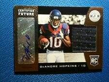 DeAndre Hopkins 2013 Totally Certified Jersey Patch Autograph Auto RC /149