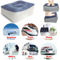 Inflatable Foot Rest Pillow Air Cushion Travel Relax Reduce DVT Risk on Flights