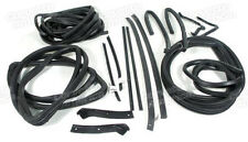63 Corvette Coupe Weatherstrip Kit Body 18 Piece NEW Import X2207