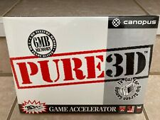 Canopus Pure3D (3dfx Voodoo) 6MB PCI Graphics Accelerator Add-On Card - New!