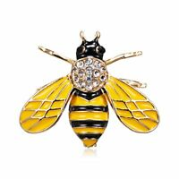 Lovely Bee Crystal Animal Breastpin Brooch Pin Women Party Costume Jewelry Gift