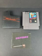 Excitebike Nintendo NES 1985 Cleaned & Tested W/ Manual & Dust Cover Very Good
