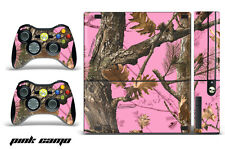Skin Decal Wrap for Xbox 360 E Gaming Console & Controller Sticker Design PINK C