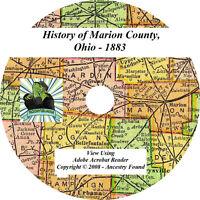 1883 History & Genealogy of MARION County Ohio OH