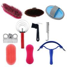 10 Pieces Equestrian Stables Cleaning Kit Horse Brush Care Grooming Tools Set