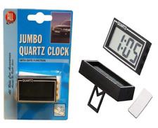 JUMBO CLOCK SELF ADHESIVE QUARTZ WITH DATE FUNCTION DASHBOARD DIGITAL CAR VAN UK